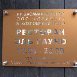 Фасадные таблички